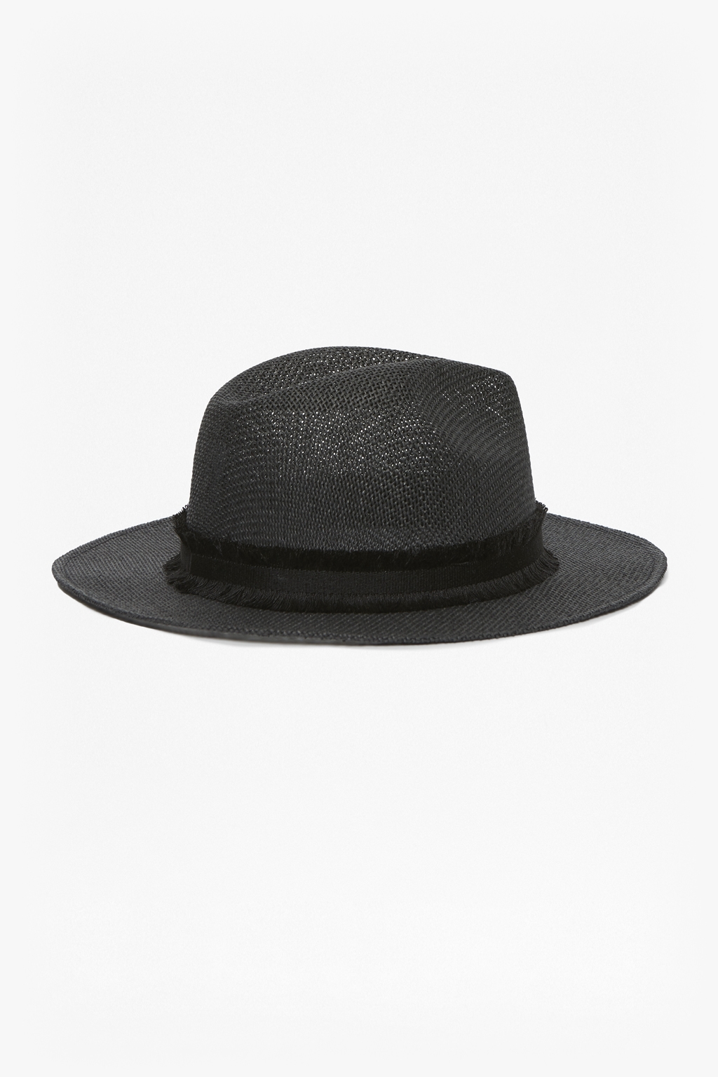 Straw Beach Trilby Hat With Band Detail - Cream black French Connection High Quality For Sale 8UI42hWQTr