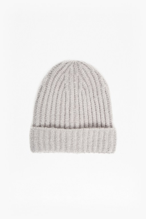 Complete the Look Ribbed Knit Beanie Hat