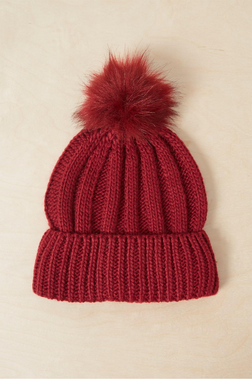 Faux Fur Pom Beanie Hat. loading images. 7e7673171