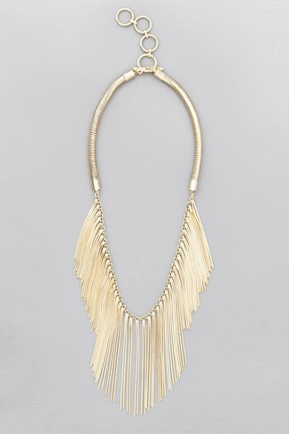 Snake Chain Fringe Necklace