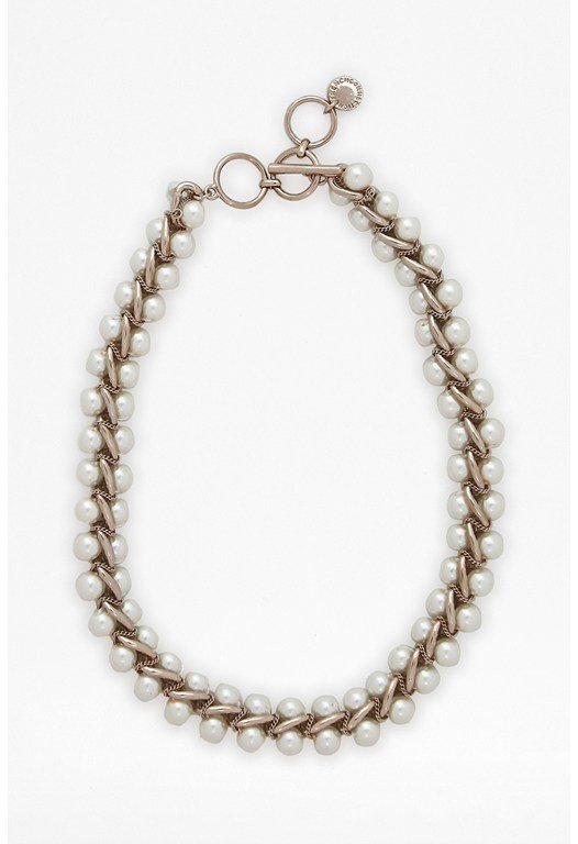 Pearl And Chain Collar