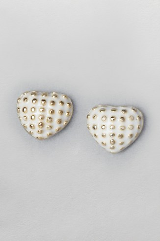 Studded Heart Earrings