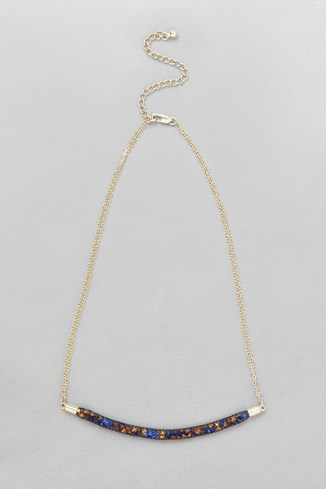 Fine Crystal Mesh Necklace