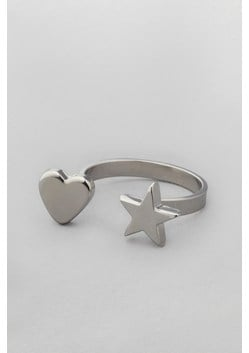 Heart & Star Open Ring