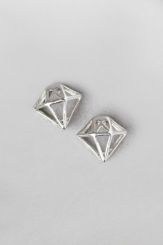 Diamond Cage Stud Earrings