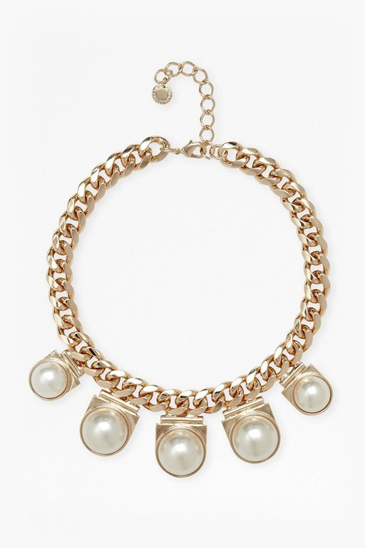 faux pearl pendant necklace