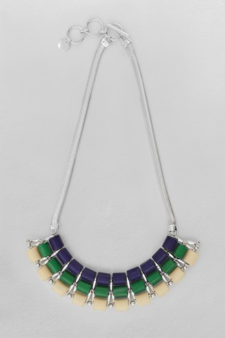 Semi-Precious Collar Necklace