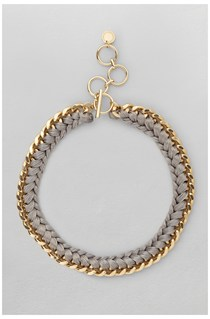 Wrapped Curb Chain Necklace