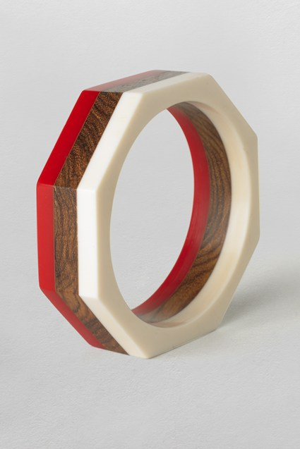 Resin Wood Inlay Bangle