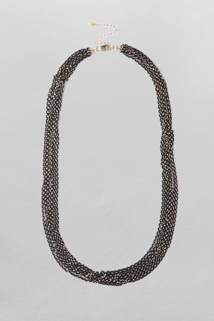 Cut Chain Cascade Necklace