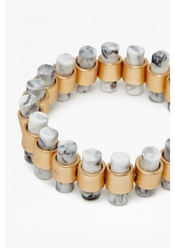 Tube Stone Stretch Bracelet