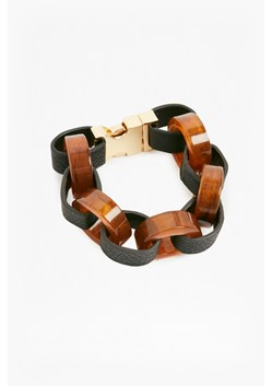 Resin Leather Look Link Bracelet