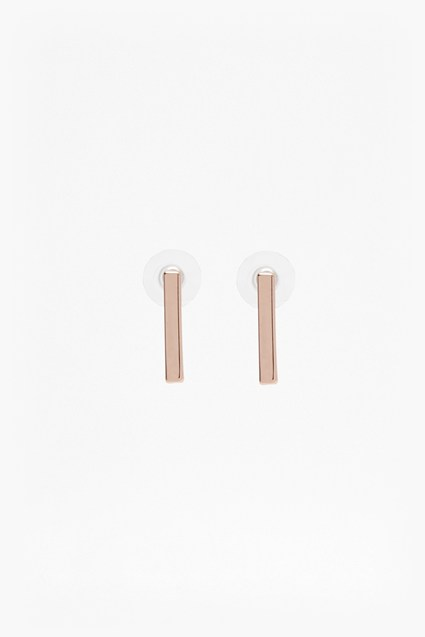 Rectangle Bar Stud Earrings