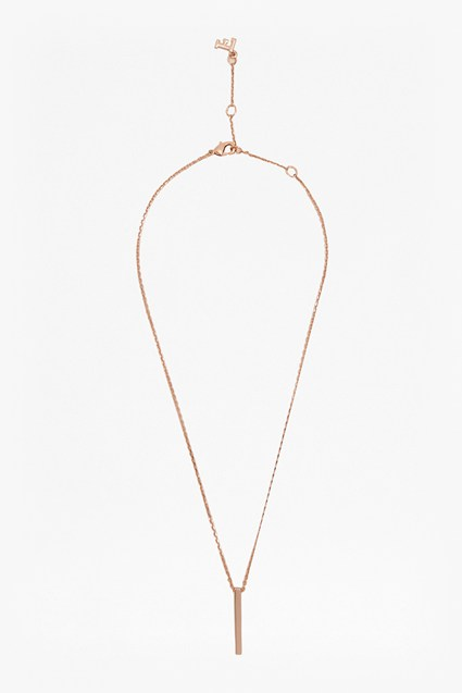 16 Inch Bar Pendant Necklace