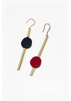 Asymmetrical Linear Drop Earrings
