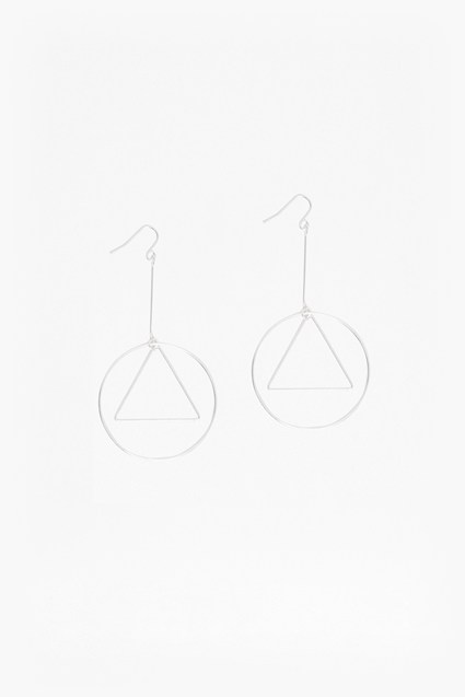 Geo Circle and Triangle Earrings
