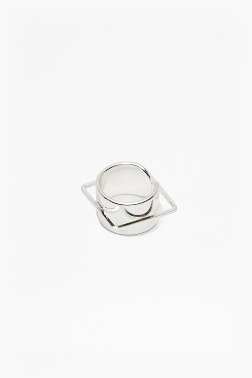 Complete the Look Geo Cuff And Square Ring