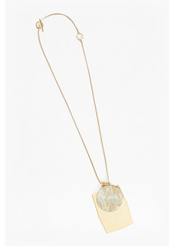 Grecian Circle Rectangle Pendant Necklace