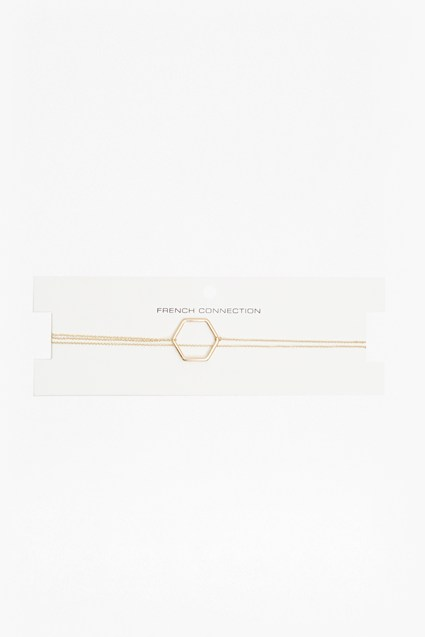 Geo Drop Hexagon Choker