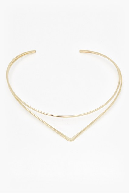 Structured Drop Point Necklace