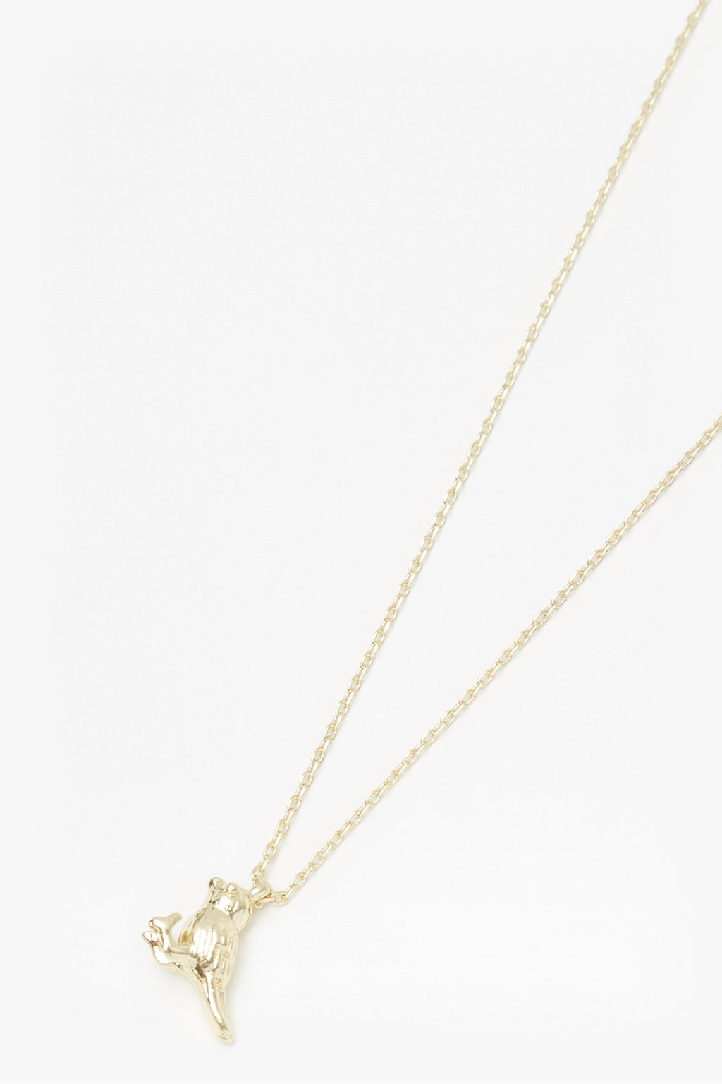 French Connection Pineapple Charm Necklace vAuMDz42