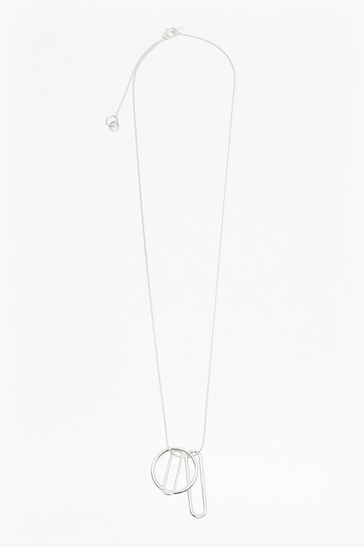 paperclip pendant long necklace