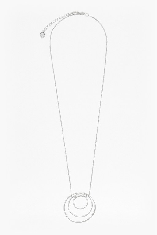 core trio circle pendant necklace