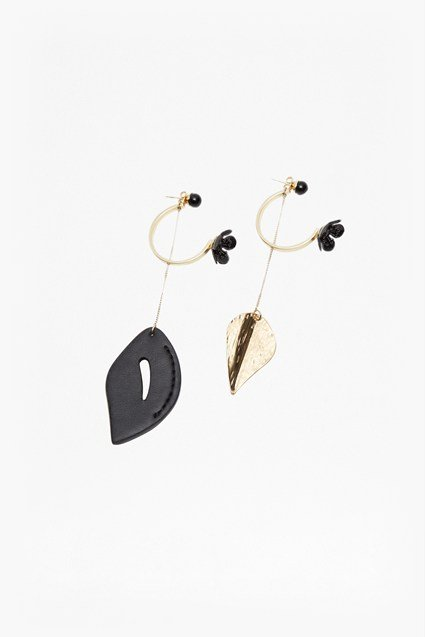 Botanical Mismatch Drop Earrings