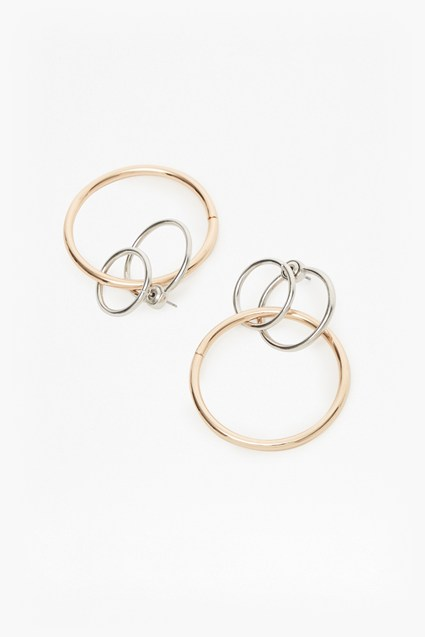 Core Linked Loop Hoop Earrings