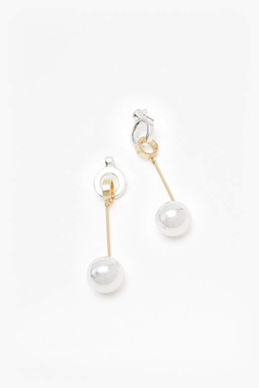 pendulum drop sphere earrings