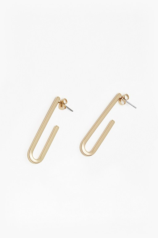 core paperclip earrings