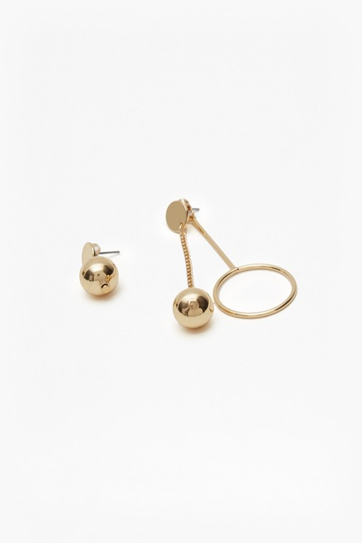 pendulum ball and chain earrings
