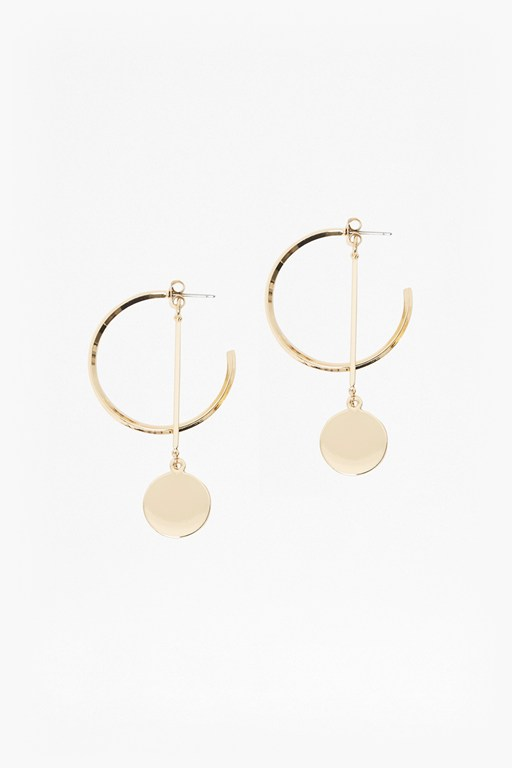 Complete the Look Core Hoop And Drop Circle Earrings