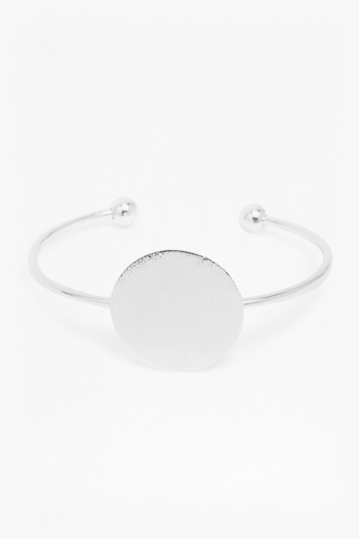 core brushed disc bangle