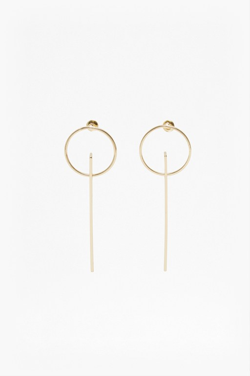 Complete the Look Core Drop Plate Hoop Earrings