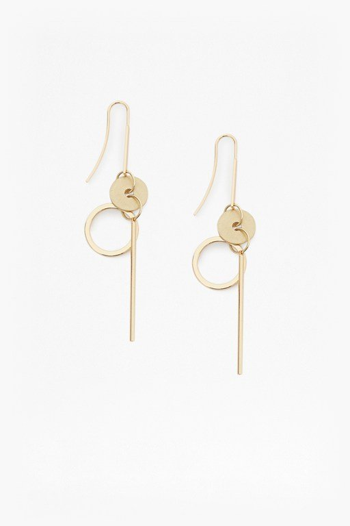 core circle & bar earrings