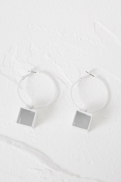 core geo hoop earrings