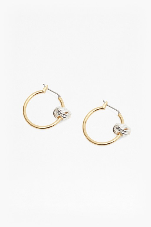 Complete the Look Knot Hoop Earrings