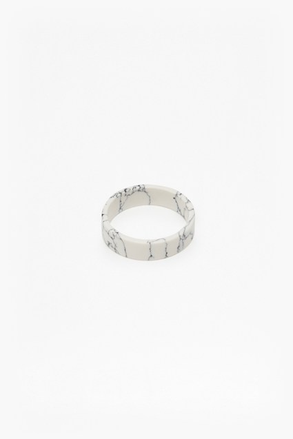 French Connection DE Geo Resin Ring - Mono Marble