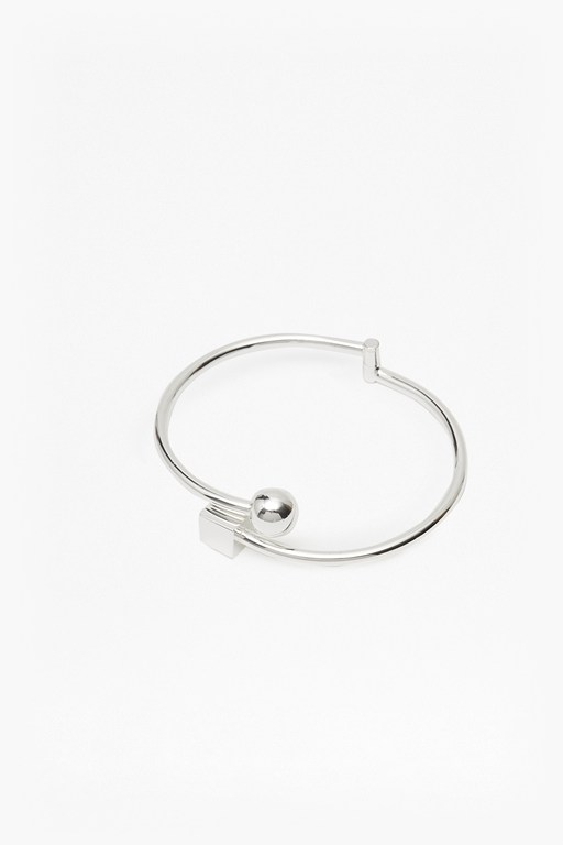 cube and sphere sliding bangle