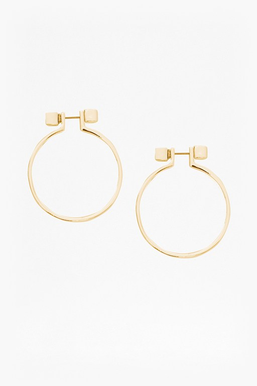 Complete the Look Cube Circle Earrings