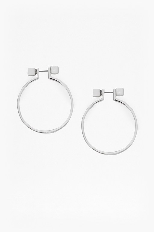 cube circle earrings