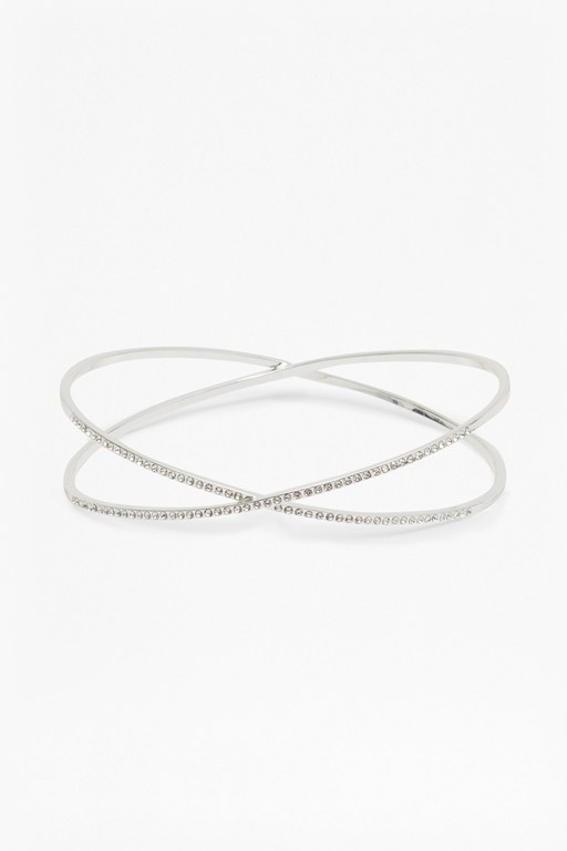 Complete the Look Kissing Crystal Bangle