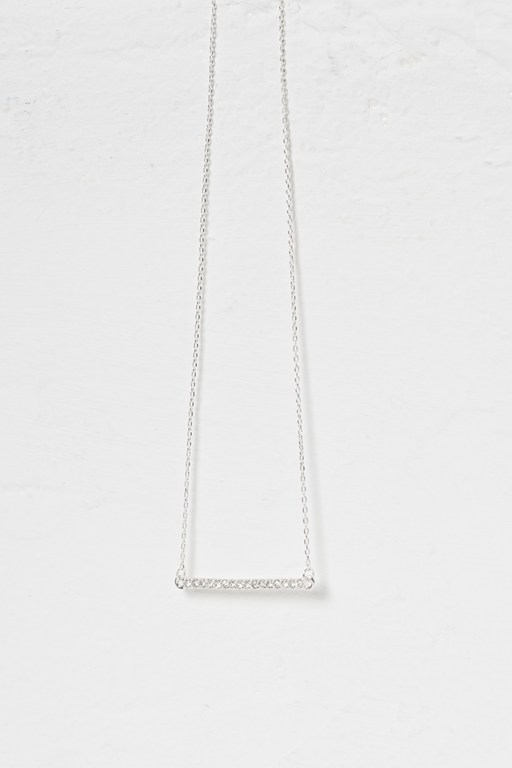 Complete the Look Crystal Bar Necklace