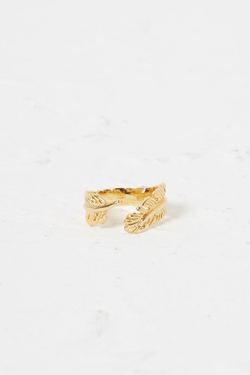 reef wrap leaf ring
