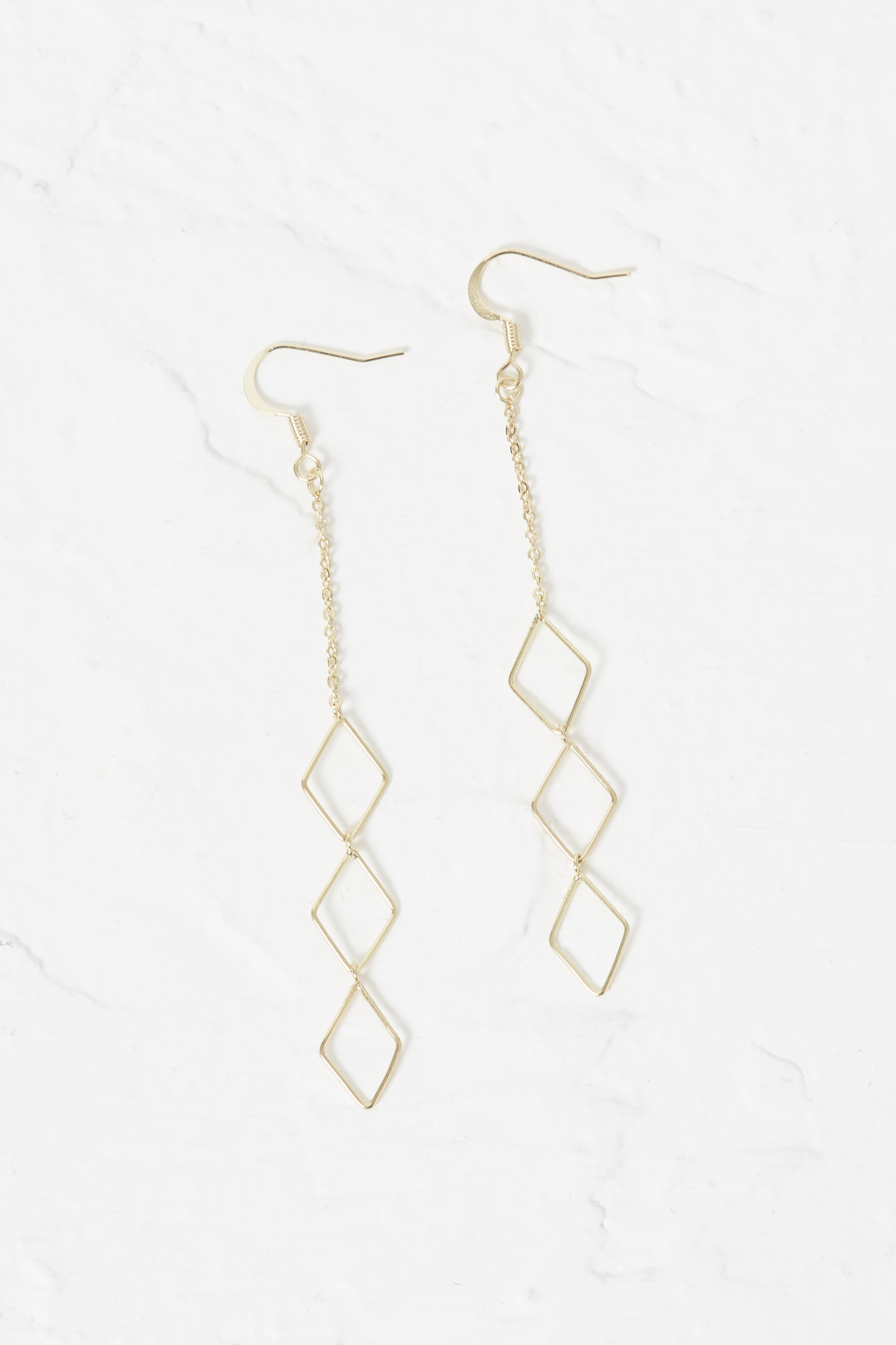French Connection Geo Rhomboid Drop Earrings UHQBWBaCvO