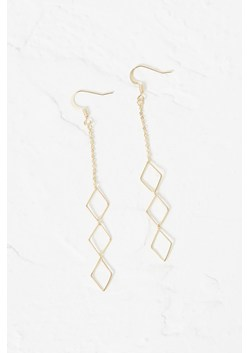 Geo Rhomboid Drop Earrings