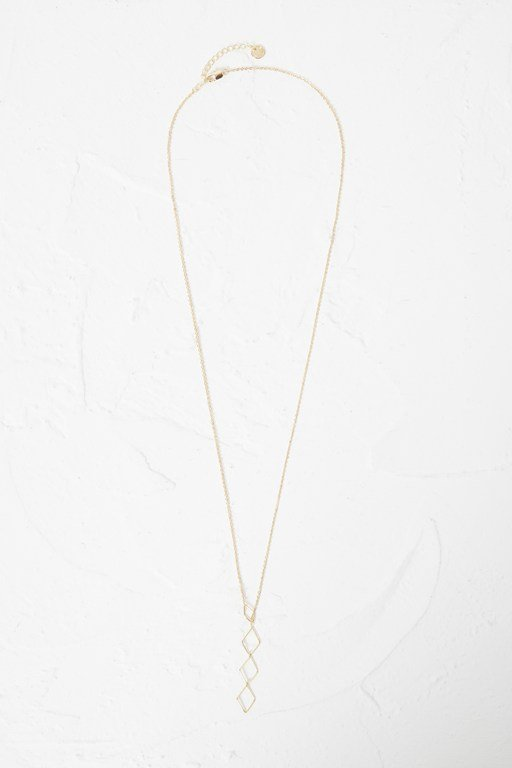 geo rhomboid drop necklace