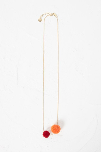 Beach Twin Pom Pom Necklace