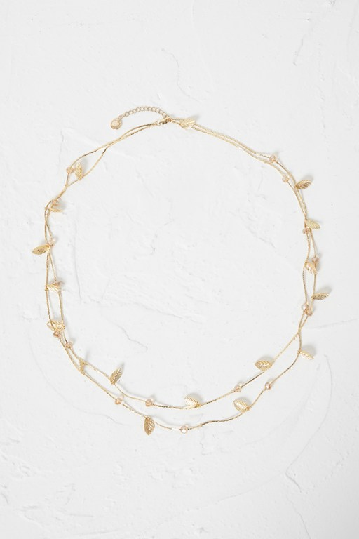 reef multi leaf necklace